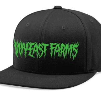 WyEast-Farms-Green-Necro-Font-Snapback